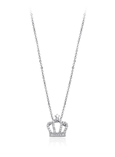 0,30 Ct Pırlanta Efekt Altın Queen Star Kolye-Tophills Diamond Co.